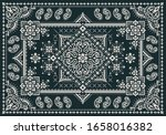 rectangular bandana print... | Shutterstock .eps vector #1658016382