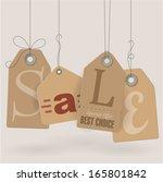 Retro style cardboard vintage sale labels. Vector.