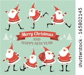 christmas illustration with... | Shutterstock .eps vector #165802145