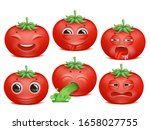 tomato emoji cartoon character... | Shutterstock .eps vector #1658027755