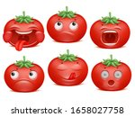 tomato emoji cartoon character... | Shutterstock .eps vector #1658027758