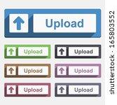 upload button  flat design ...