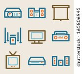 audio video web icons  vintage... | Shutterstock .eps vector #165806945