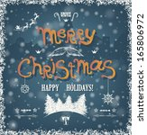 christmas greeting card wiht... | Shutterstock .eps vector #165806972