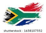 south african flag grunge brush ...   Shutterstock .eps vector #1658107552