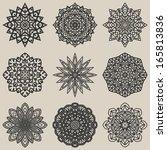 Circular Floral Pattern Set  ...