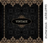 vintage gold background ... | Shutterstock .eps vector #165813995