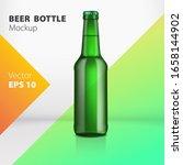 realistic green glass beer... | Shutterstock .eps vector #1658144902