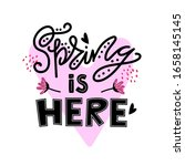 spring season ad text isolated... | Shutterstock .eps vector #1658145145