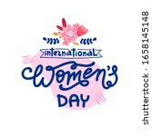 spring women's day holiday text ... | Shutterstock .eps vector #1658145148
