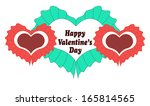 happy valentines day card with... | Shutterstock . vector #165814565