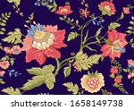 seamless pattern with stylized... | Shutterstock .eps vector #1658149738
