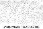 topographic map lines... | Shutterstock .eps vector #1658167588