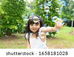 little girl happy play with...   Shutterstock . vector #1658181028
