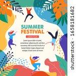 summer fest  concept of live... | Shutterstock .eps vector #1658181682