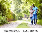 mature african american couple... | Shutterstock . vector #165818525