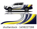 truck car wrapping decal design   Shutterstock .eps vector #1658227288