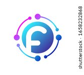 letter f logo with connected...   Shutterstock .eps vector #1658232868