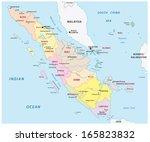 sumatra administrative map | Shutterstock .eps vector #165823832