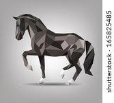 Stock vector vector symbol of black horse 165825485