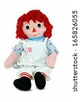 Old Rag Doll With Candy Cane In ...