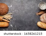 Various Bread With Wheat  Flou...