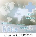 healthcare banner card. global... | Shutterstock . vector #165826526