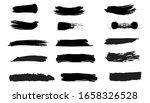 black ink grunge brush strokes. ... | Shutterstock .eps vector #1658326528