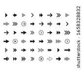arrow icon collection. arrow... | Shutterstock .eps vector #1658328832