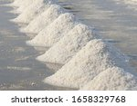 sea salt in salt farm ready for ... | Shutterstock . vector #1658329768