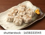 Meat Shumai Served On A Plate