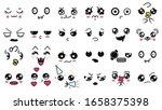 kawaii cute faces. manga style... | Shutterstock .eps vector #1658375398