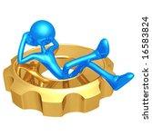relaxing in gear | Shutterstock . vector #16583824