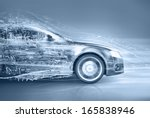 abstract car   Shutterstock . vector #165838946