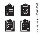 checklist icon set. vector...