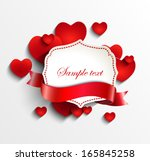 vintage frame and tape for text ...   Shutterstock .eps vector #165845258
