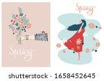 set of vectors of spring theme... | Shutterstock .eps vector #1658452645