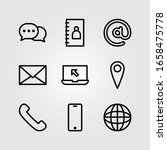 contact icon for information... | Shutterstock .eps vector #1658475778