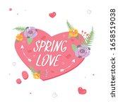 floral heart speech bubble... | Shutterstock .eps vector #1658519038