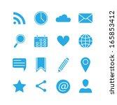 silhouette social media icons... | Shutterstock . vector #165853412
