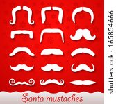 Santa mustaches - stock vector
