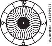 black wall clock for laser... | Shutterstock .eps vector #1658549875