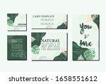 natural card template green... | Shutterstock .eps vector #1658551612