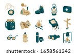 hiking  trekking or camping...   Shutterstock .eps vector #1658561242