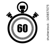 stopwatch icon   Shutterstock .eps vector #165857075