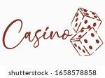 casino banner with dice  vector ... | Shutterstock .eps vector #1658578858