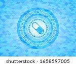 pill icon inside light blue... | Shutterstock .eps vector #1658597005
