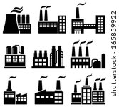 industrial buildings  factories ... | Shutterstock .eps vector #165859922