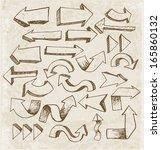 sketch arrow collection in... | Shutterstock .eps vector #165860132
