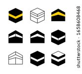 kaaba in mecca city set of...   Shutterstock . vector #1658608468